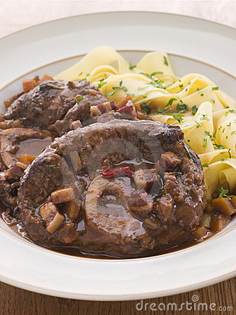 Free Osso Bucco Alla Milanaise With Tagliatelle Stock Images - 5951574
