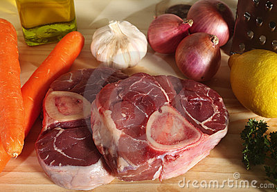 Ossobuco ingredients horizontal