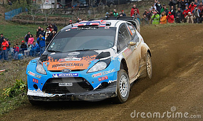 Osteberg (Nor) Ford Fiesta RS WRC Editorial Photo