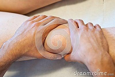 Osteopath s healing hands