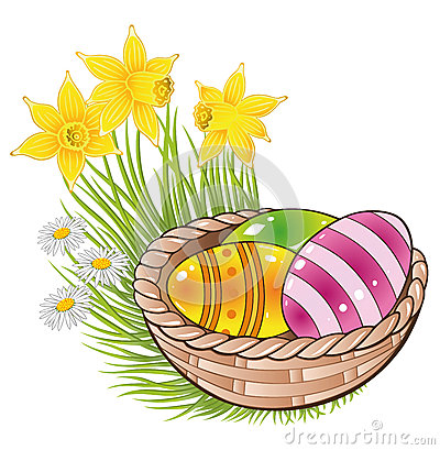 Ostern, Eier, Korb