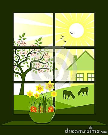 Ostern-Fenster