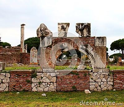 Ostia antica ruins stock photos image 36143533 for Mr arredamenti ostia antica