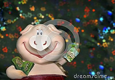 Ostkalender mit 2007 Schweinen