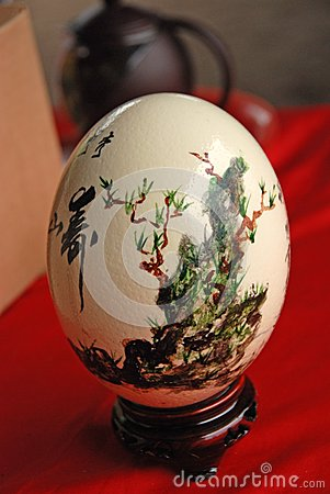 Ostrich egg painting