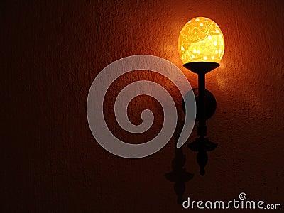 Ostrich egg shell lamp