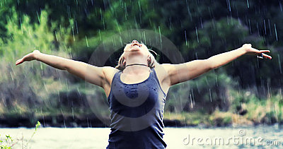 Ostrości podeszczowej prysznic miękka część