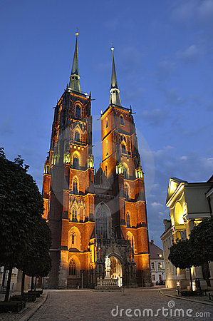 Ostrow Tumski in Wroclaw.