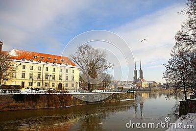 Ostrow Tumski in Wroclaw, Poland