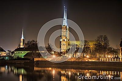 Ostrow Tumski, Wroclaw, Poland