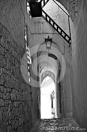 Ostuni lane with vaults