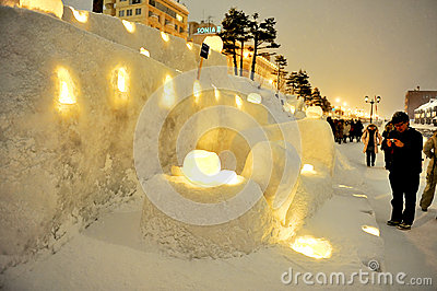 Otaru Snow Light Path event Editorial Stock Image