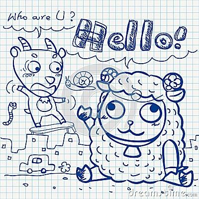 Otebook paper doodles