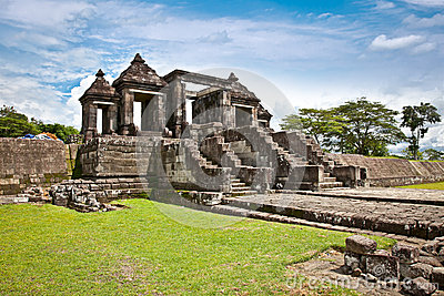 The other main gate of Ratu Boko palace complex on Java, Indones