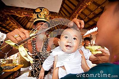 Oton ceremony on Bali island Editorial Stock Image
