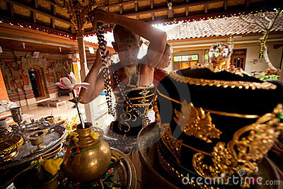 Oton ceremony on Bali island Editorial Stock Photo