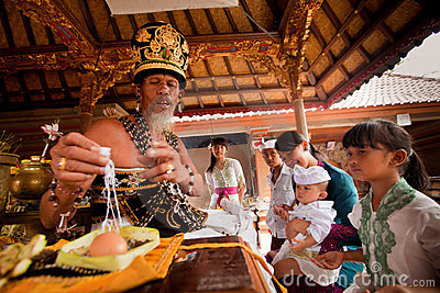 Oton ceremony on Bali island Editorial Image