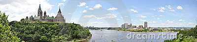 Ottawa and Gatineau Skyline Panorama