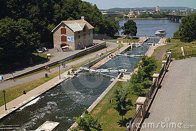 Ottawa Ontario Canada Rideau Canal Editorial Stock Photo