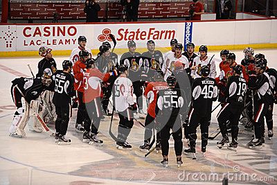 Ottawa Senators open training camp after NHL Lockout Editorial Photo