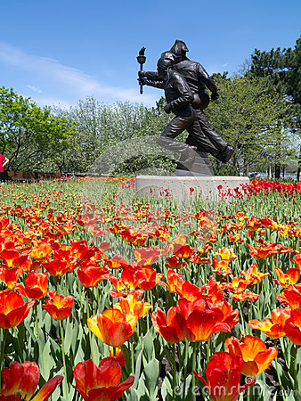 Ottawa Tulip Festival 2012 - Olympic Statue Editorial Stock Photo