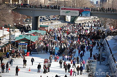 Ottawa Winterlude Rideau Canal Editorial Stock Photo