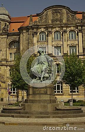 Otto Gvericke Statue, Magdeburg, Germany