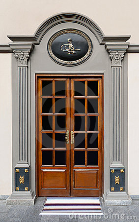 Ottoman marble door