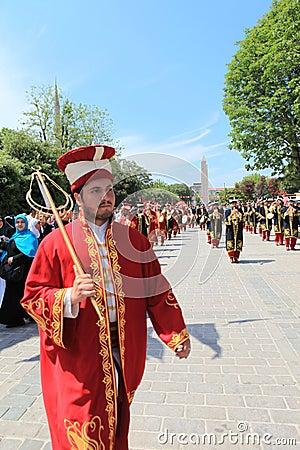 Ottoman Military Music Editorial Stock Photo