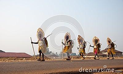 Otuo Age Grades Festival -Masquerade in Nigeria Editorial Photography