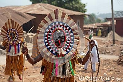 Masquerade in Nigeria  Editorial Stock Photo