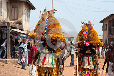 Masquerade in Nigeria  Editorial Photo