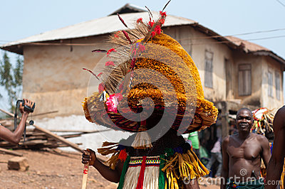 Masquerade in Nigeria  Editorial Stock Photo