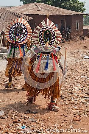 Masquerade in Nigeria  Editorial Photo