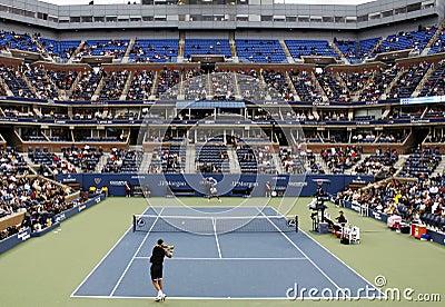 Otwarty dopasowanie tenis my Obraz Stock Editorial