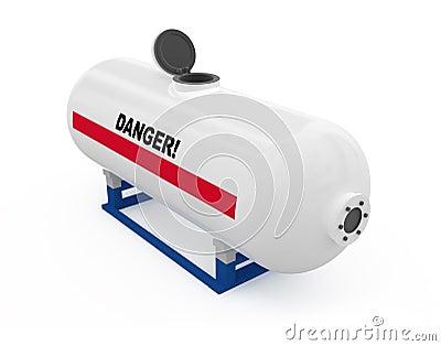Otwarty zbiornik paliwa.