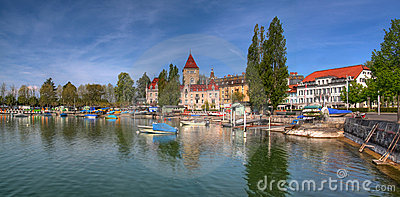 Ouchy panorama HDR, Lausanne, Switzerland