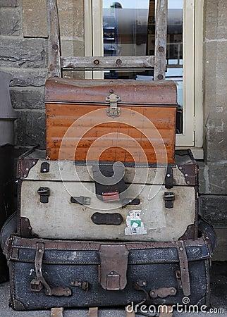 Oud bagagekarretje