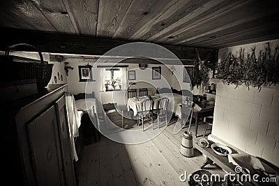 Oud dorpshuis in Polen