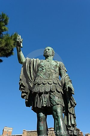Oud Standbeeld in Rome Italië