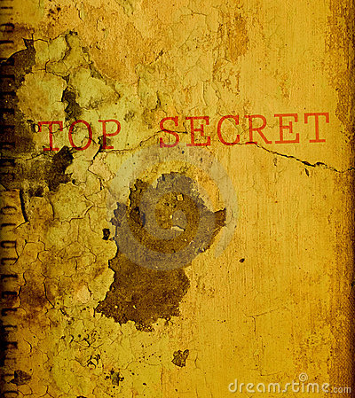 Oude bovenkant - geheim document.