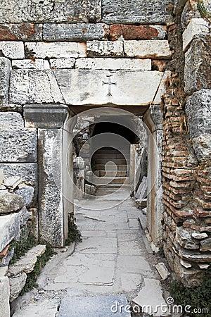 Oude Christelijke deuropening