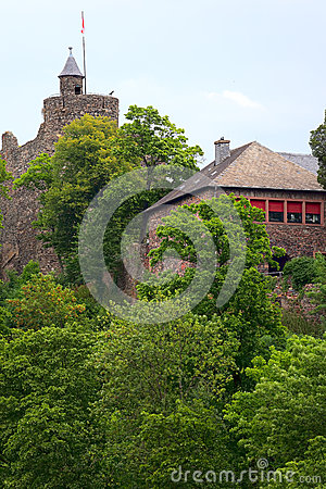 Oude kasteelruïne