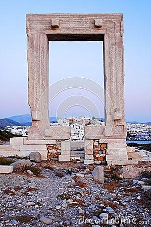 Oude kust Griekse ruïnes