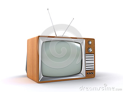 Oude retro TV