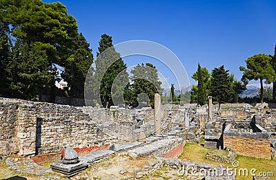 Oude ruïnes in Salona