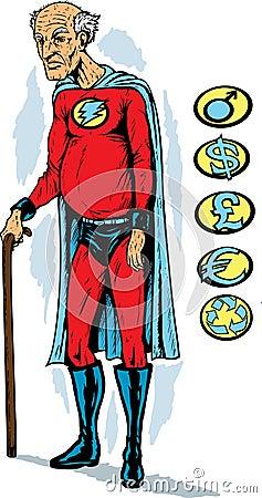 Oude superhero