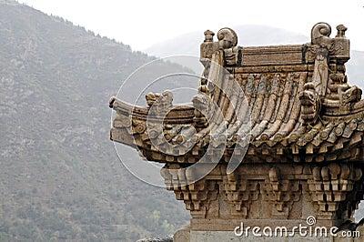 Oude tempel in de berg.