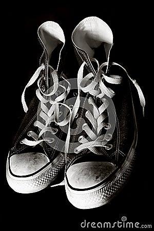 Oude tennisschoenen