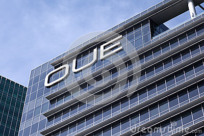 OUE Bayfront Building Editorial Stock Photo